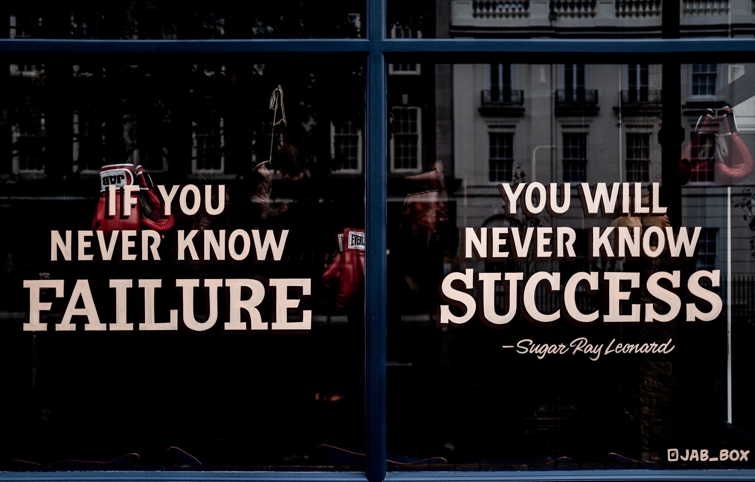 Embrace failure to succeed